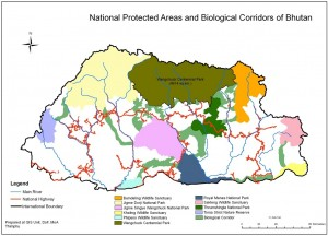 Bhutan Protected Area Map